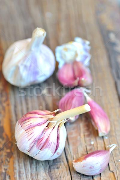 Foto d'archivio: Greggio · aglio · legno · chiodi · di · garofano · testa