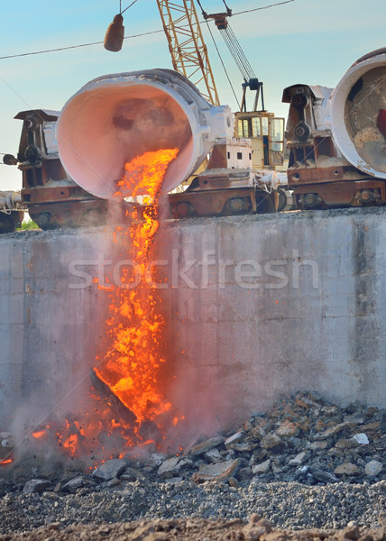 Beker spoorweg hot staal Stockfoto © mady70