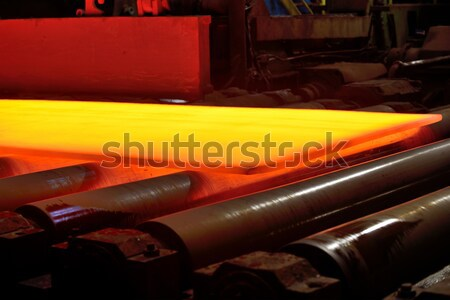 hot plate on conveyor Stock photo © mady70