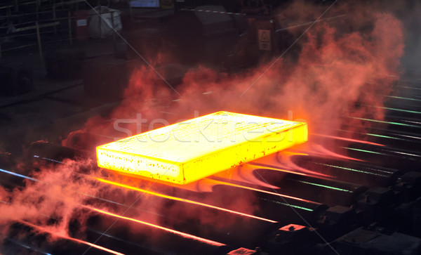 hot steel sheet on conveyor Stock photo © mady70