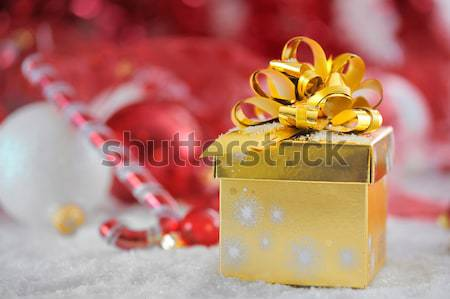present box in snow Stock photo © mady70