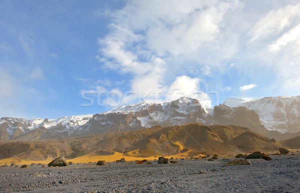ストックフォト: 山 · 岩 · アイスランド · 氷河