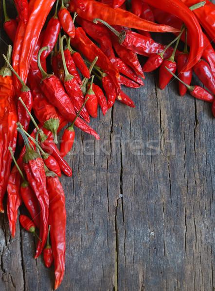Foto stock: Vermelho · quente · madeira · velha · projeto · quadro