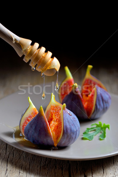 Ripe figs with honey  Stock photo © mady70