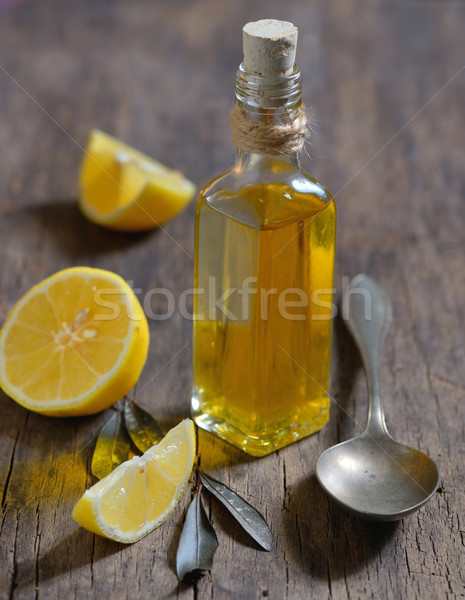 Liver Detox with olive oil and  lemon fruits Stock photo © mady70