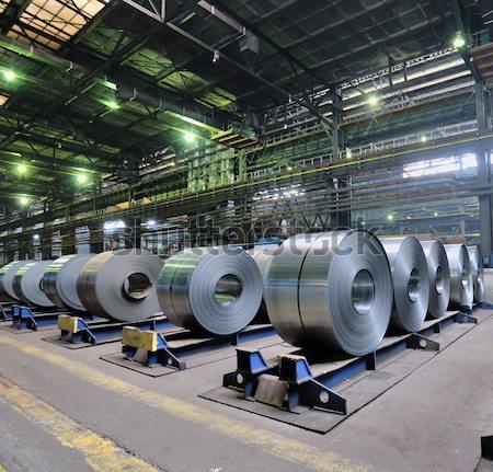 冷たい 鋼 工場 金属 プレート ストックフォト © mady70