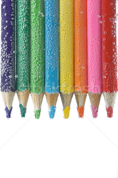 Colorido lápis água bubbles estudante Foto stock © mady70
