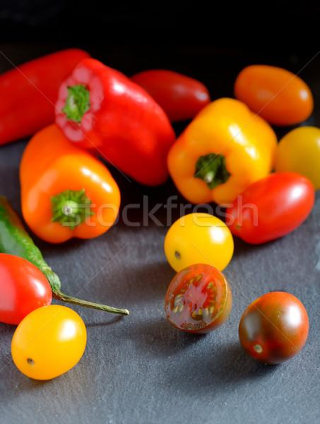 Frescos maduro hortalizas tomates colorido alimentos Foto stock © mady70