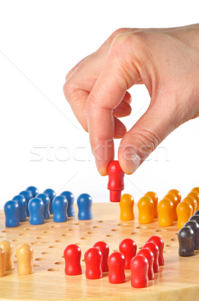 chinese checkers wooden board game Stock photo © mady70