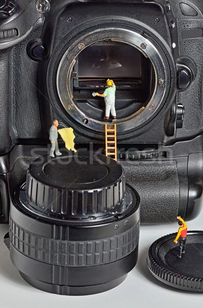 камеры датчик очистки человека стекла цифровой Сток-фото © mady70