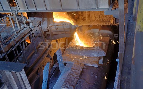 steel buckets to transport molten metal Stock photo © mady70