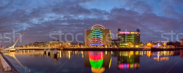 Samuel Beckett Bridge and the river Liffey in Dublin  Stock photo © mady70