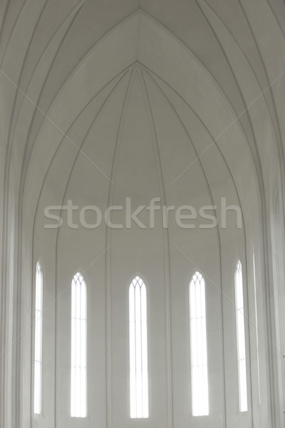Inside of Hallgrimskirkja Cathedral Stock photo © mady70