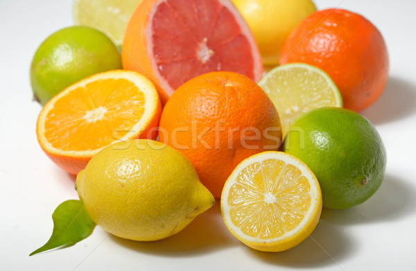 citrus fruits isolated on white background Stock photo © mady70