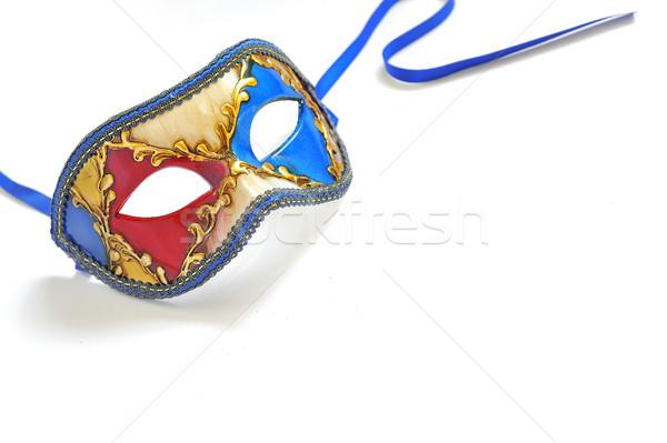Stockfoto: Carnaval · masker · geïsoleerd · witte · mode · ontwerp