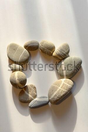 Fehér kavics kő üzlet természet keret Stock fotó © mady70