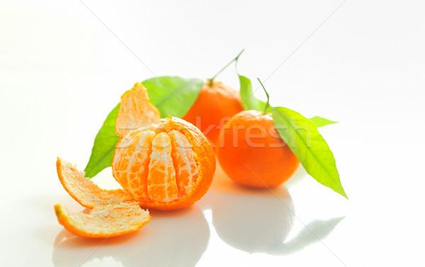 Mandarim folha natureza laranja verde sobremesa Foto stock © mady70