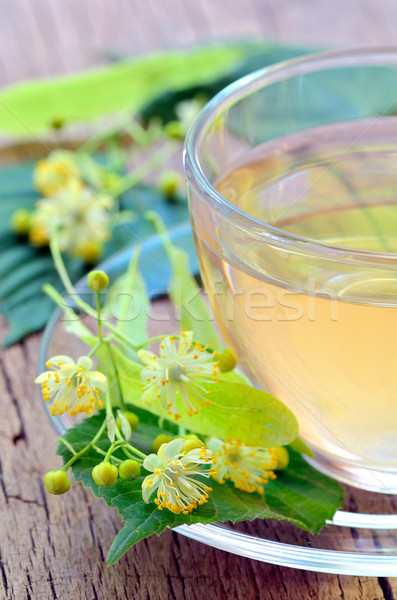 Cup of tea and linden flowers Stock photo © mady70