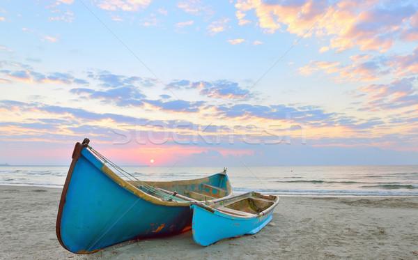 Fishing boats and sunrise  Stock photo © mady70