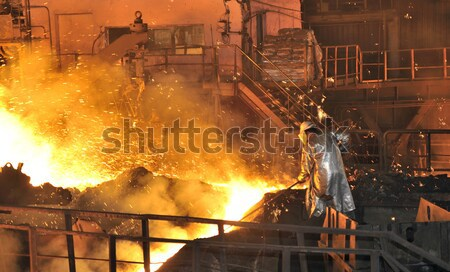 Hot metal cutting Stock photo © mady70