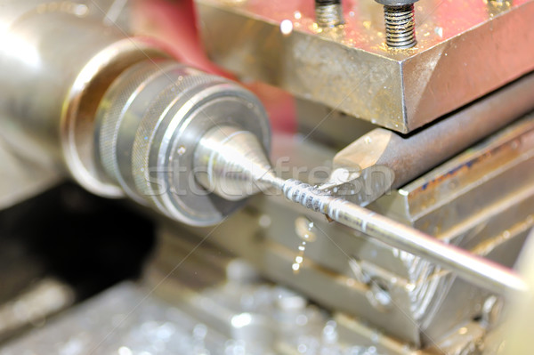 Turning lathe in action Stock photo © mady70