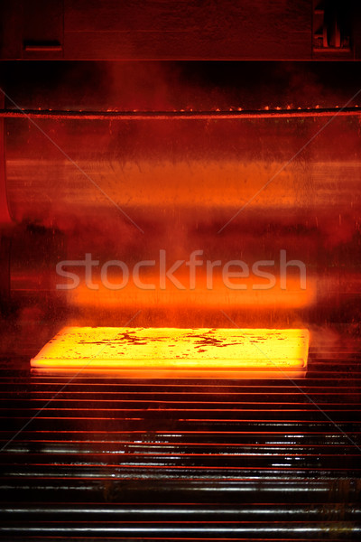 hot steel on conveyor Stock photo © mady70