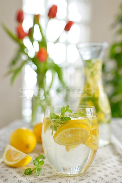 Vers limonade tabel zomer drinken citroen Stockfoto © mady70