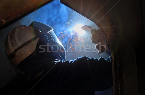 MIG welder uses torch Stock photo © mady70