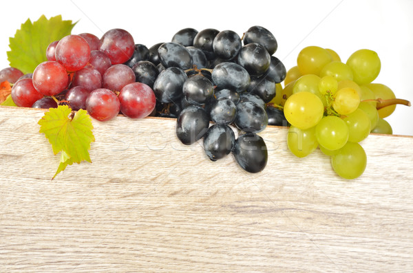 types of grapes on wood Stock photo © mady70