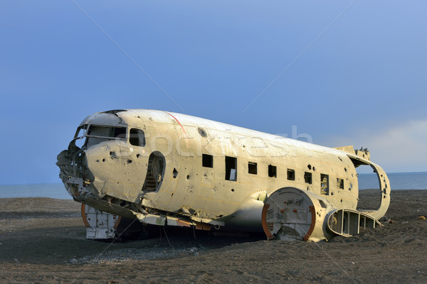 Solheimasandur Plane Wreck in South Iceland Stock photo © mady70