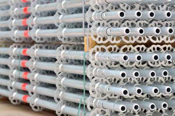 Andamio detalles construcción marco industria Foto stock © mady70