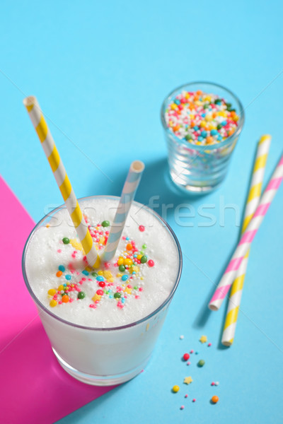 Glass of milk and Sprinkles  Stock photo © mady70
