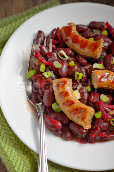 Red beans and sausages Stock photo © mady70