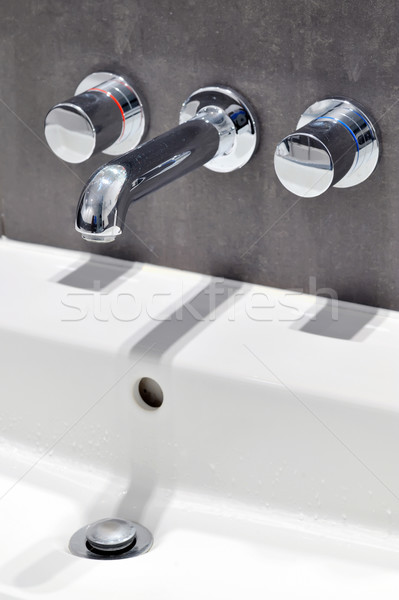 Modern stainless steel tap Stock photo © mady70