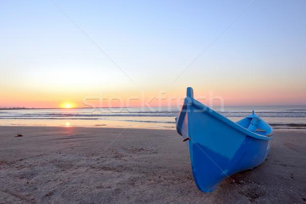 Fishing boat and sunrise  Stock photo © mady70