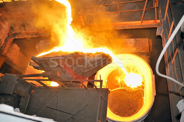 metal casting process Stock photo © mady70
