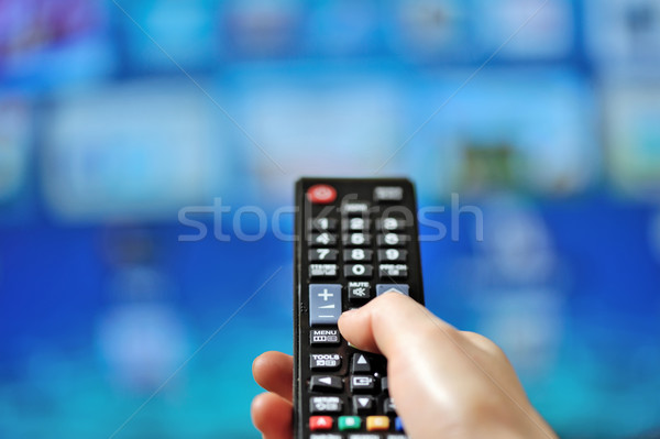 Hand pointing tv remote control  Stock photo © mady70
