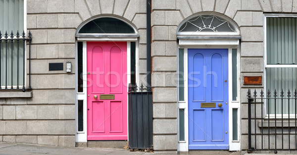 Georgian doors in Dublin Stock photo © mady70