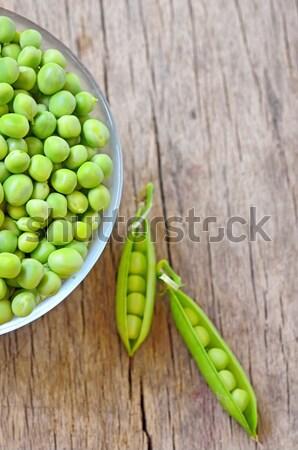 緑 エンドウ ボウル 木製 サラダ 野菜 ストックフォト © mady70