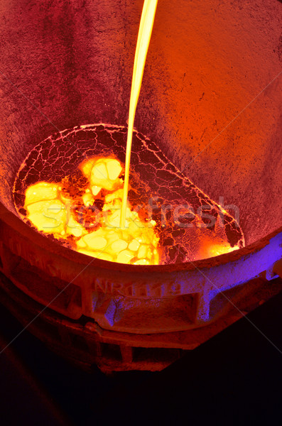 molten hot steel Stock photo © mady70