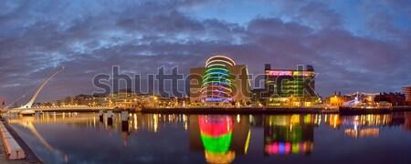 ストックフォト: 橋 · ダブリン · アイルランド · 市 · 1泊 · ライト