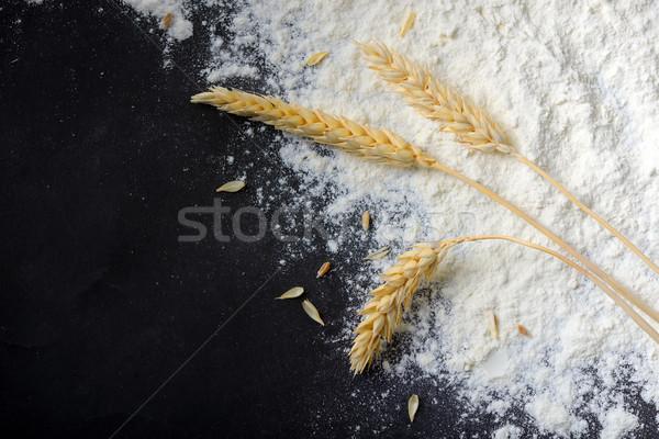 Inteiro farinha trigo orelhas preto natureza Foto stock © mady70