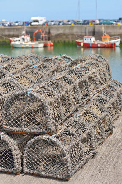 Traps for capture fisheries and seafood Stock photo © mady70