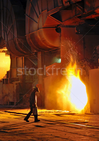 A steel worker in factory Stock photo © mady70