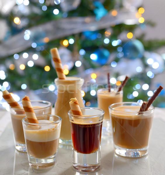 Különböző eszpresszó étel jókedv cukorka koktél Stock fotó © mady70