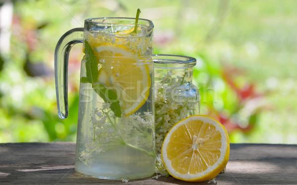 Natural elderflower juice with lemon  Stock photo © mady70