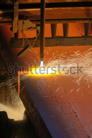 Gas cutting of the hot metal  Stock photo © mady70