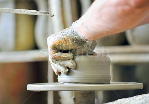 making of a ceramic vase Stock photo © mady70