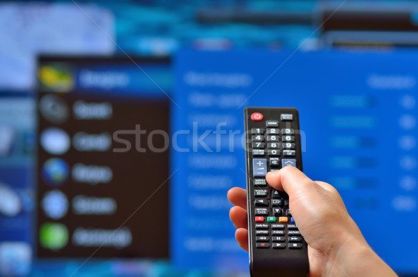 Smart tv and hand  Stock photo © mady70