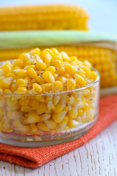 Citromsárga párolt kukorica só étel nyár Stock fotó © mady70